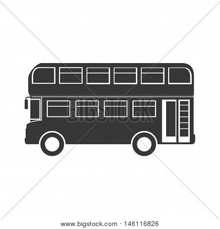 classic london city bus. british symbol. vector illustration