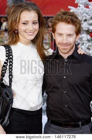 Seth Green and Candace Bailey at the World premiere of 'Fred Claus' held at the Grauman's Chinese Theater in Hollywood, USA on November 3, 2007.