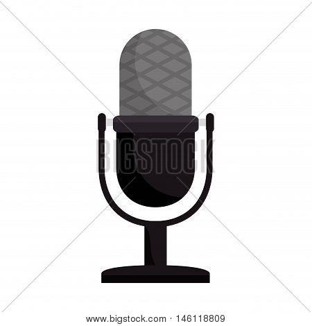 retro radio microphone.audio technology device. vector illustration