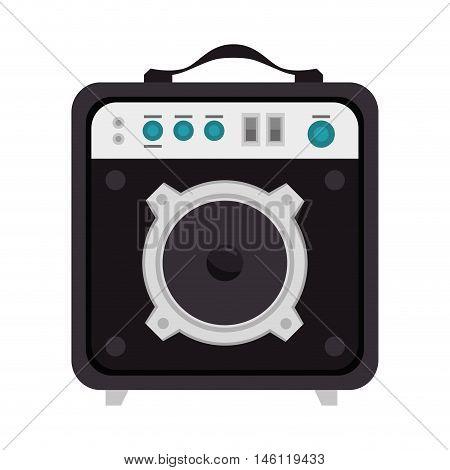 speaker sound bass portable. music audio device. vector illustration
