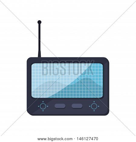 game portable control with digital screen. vector illustration