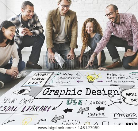 Design Graphic Creative Ideas Objective Planning Concept