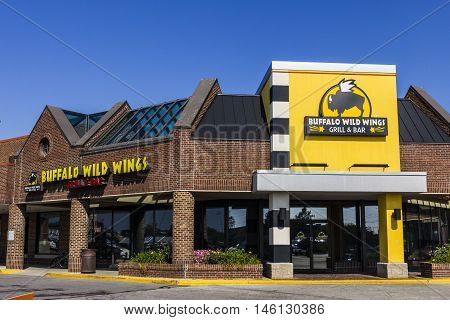 Indianapolis - Circa September 2016: Buffalo Wild Wings Grill and Bar Restaurant. You Can Find Live Sports, Wings, and Beer at B-Dubs II