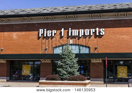 Indianapolis - Circa September 2016: Pier 1 Imports Retail Strip Mall Location. Pier 1 Imports Home Furnishings and Decor II