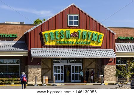 Indianapolis - Circa September 2016: Fresh Thyme Farmers Market. Fresh Thyme Offers Fresh and Healthy Food at Amazing Values III