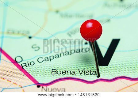 Buena Vista pinned on a map of Venezuela