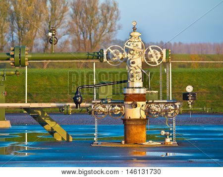 Natural Gas Production Wellhead