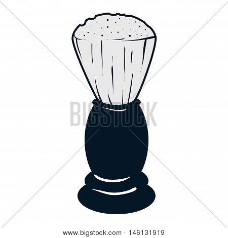 classic shaving brush. barber shop equipment. vector illustration