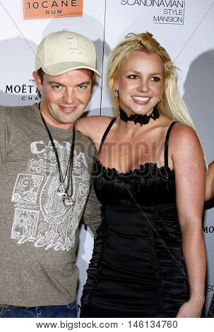 Claus Hjelmbak and Britney Spears at the Scandinavian Style Mansion held at the Private Residence in Bel Air, USA on December 1, 2007.