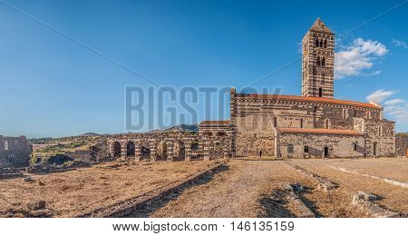 View At The Basilica Holy Trinity Of Saccargia - Sardinia - Italy