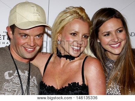 Alli Sims, Claus Hjelmbak and Britney Spears at the Scandinavian Style Mansion held at the Private Residence in Bel Air, USA on December 1, 2007.