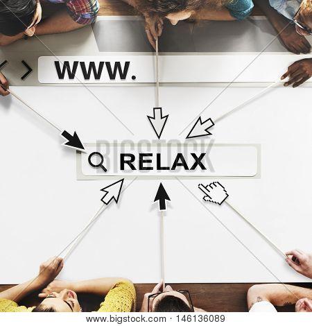 Relax Positivity Mindset Thinking Wellness Concept