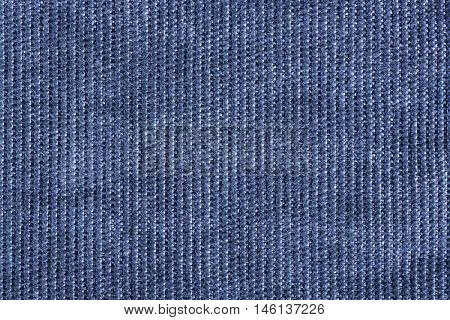 Texture and Background of denim corduroy fabric close up