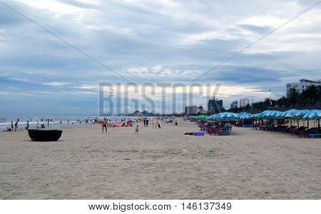 Beach in Da Nang Vietnam. It is also called Non Nuoc Beach.