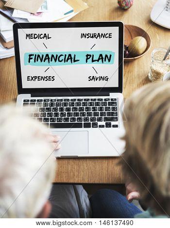 Financial Plan Retirement Investment Diagram Concept