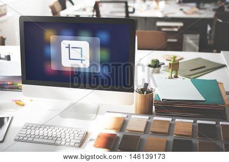 Crop Adjust Design Resize Trim Editing Graphic Concept
