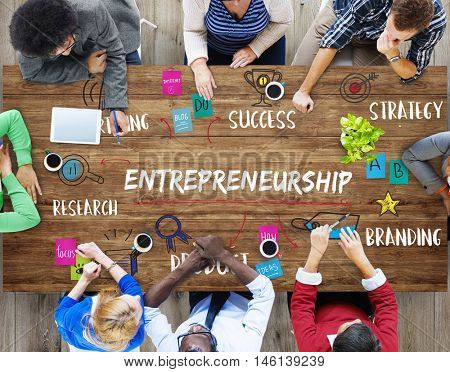 Entrepreneurship Business Goal Investment Plan Concept