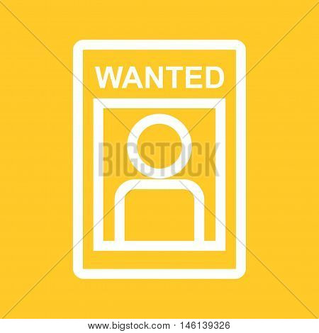 Wanted, poster, wild icon vector image. Can also be used for wild west. Suitable for web apps, mobile apps and print media.