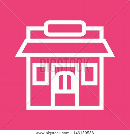 West, store, wild icon vector image. Can also be used for wild west. Suitable for mobile apps, web apps and print media.