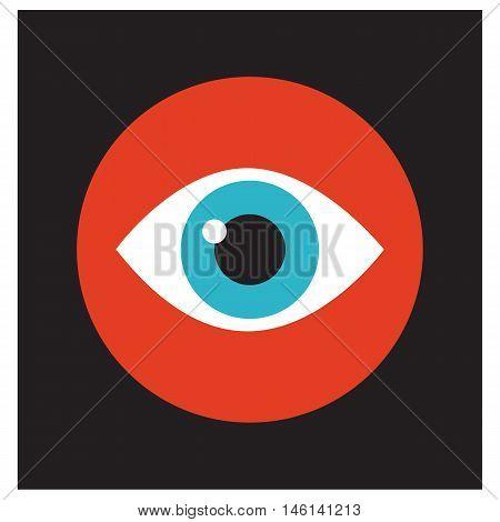 Eye icon design design watch simple eye