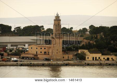 Palma  Lighthouse At Dusk
