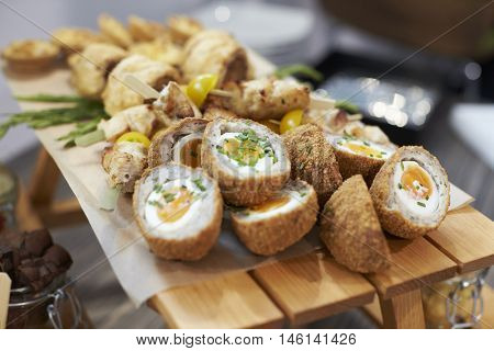 Close Up Of Food At Conference Lunch Buffet