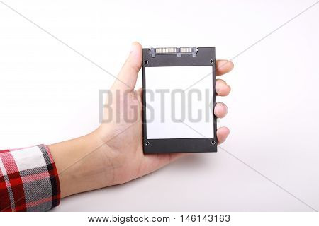 hard disk computers isolated in white background