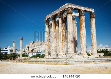 Ancient Temple of Zeus in Athens