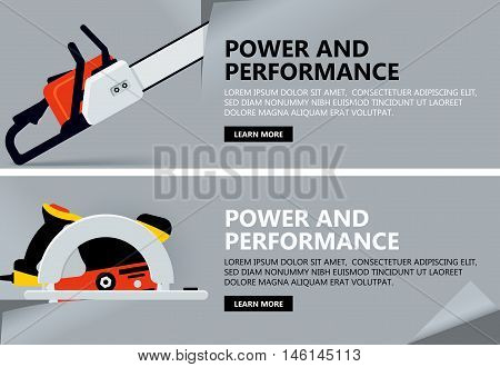 Tool banner concept vector background for Web with tool Illustration template design business infographic brochure banner presentation poster cover booklet document.