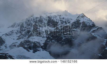 Harsh summit - Mizhirgi, Bezengi area of Caucasus, Russia