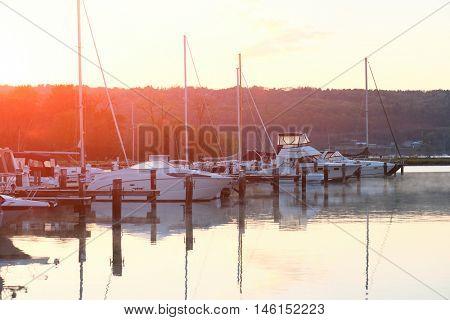 Marina on Lake Cayuga at Ithaca, New York