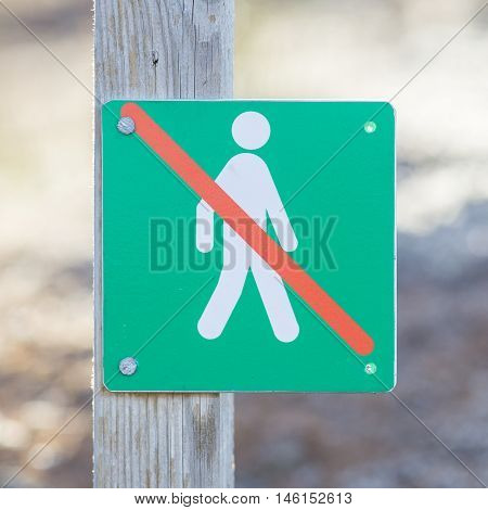 Forbidden To Walk Over Here - Iceland