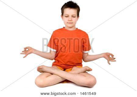 Boy Practicing Meditation