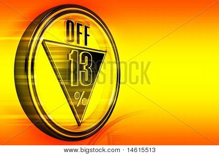 Gold metal thirteen Percent off