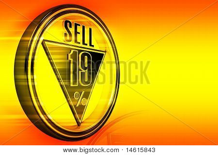 Gold metal nineteen Percent sell