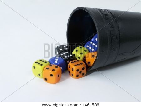 Black Cup With Dice