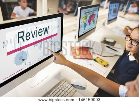 Review Audit Auditing Evaluate Report Rethink Concept