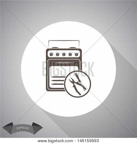 Repair household appliances  Vector icon for web and mobile