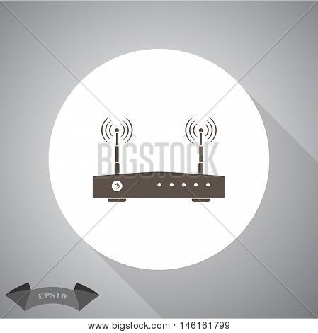 Router  Vector icon for web and mobile