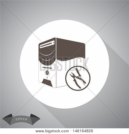 computing services  Vector icon for web and mobile