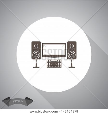 Home theater  Vector icon for web and mobile