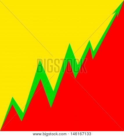 Up Arrow stylized Lithuanian flag economy progress
