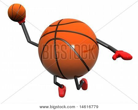 Basketball Character Slam Dunk
