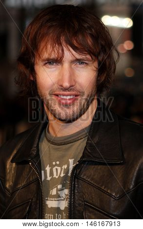 James Blunt at the World premiere of 'P.S. I Love You' held at the Grauman's Chinese Theater in Hollywood, USA on December 9, 2007.