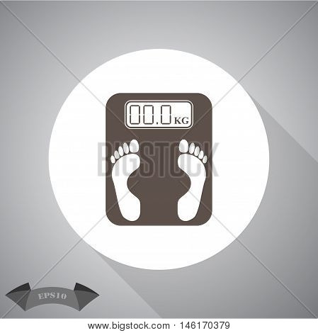 Electronic weighing machine  Vector icon for web and mobile