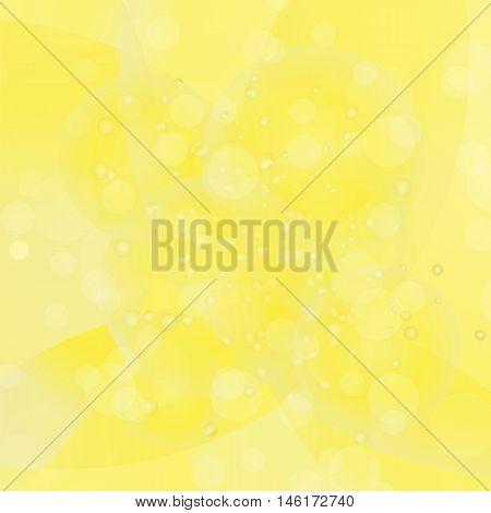Circle Yellow Light Background. Round Yellow Wave Pattern.