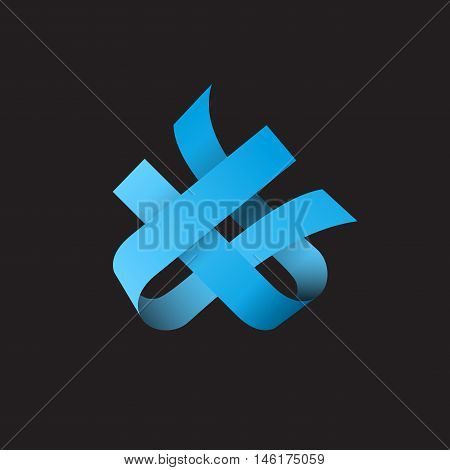 Vector sign abstract shape. Concept of synergy and teamwork