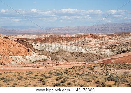 Valley Of Fire State Park Landscape, Nevada, USA. Valley of Fire is Nevada's oldest and largest state park.