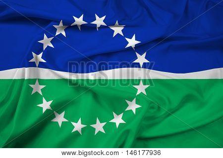 Waving Flag Of Hampton Roads, Virginia, Usa