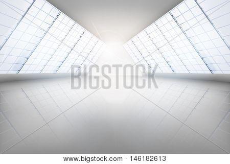 Large hall. Vector illustration.